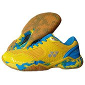 Yonex Super ACE V Badminton Shoes Yellow and Blue