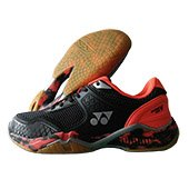 Yonex Super ACE V Badminton Shoes Black and Orange