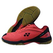 Yonex Tru Cushion SRCR 65R Badminton Shoes Bright Red and Black