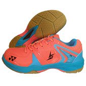Yonex SRCR 40 LD Badminton Shoes Orange and Blue