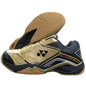 Yonex SRCR Court ACE Light Badminton Shoes Gold Black and Gray