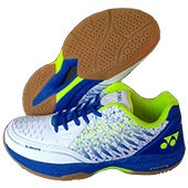 Yonex Court ACE Matrix Badminton Shoes White and Blue