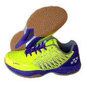 Yonex Court ACE Matrix Badminton Shoes Lime and Purple