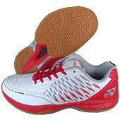 Yonex Court ACE Matrix Badminton Shoes White and Red