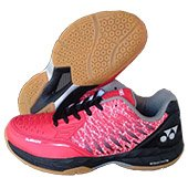 Yonex Court ACE Matrix Badminton Shoes Red and Black