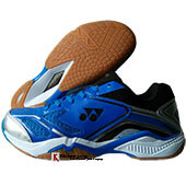 Yonex Court ACE Light Badminton Shoes Blue Silver and Black