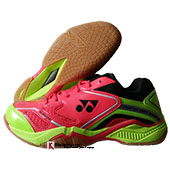 Yonex Court ACE Light Badminton Shoes Red Lime green and Black