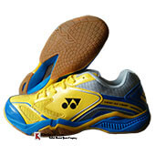Yonex Court ACE Light Badminton Shoes Yellow Blue and Grey