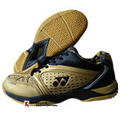 Yonex Aero Comfort Badminton Shoes Gold and Black