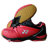 Yonex Aero Comfort Badminton Shoes Red and Black