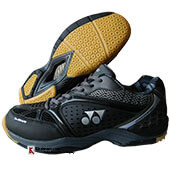 Yonex Aero Comfort Badminton Shoes Black and Gun Metal