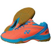 Yonex Tru Cushion SRCR 65R Badminton Shoes Orange and Blue