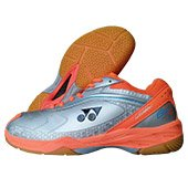 Yonex Tru Cushion SRCR 65R Badminton Shoes Silver and Orange