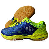 Yonex Court ACE Matrix 2 Badminton Shoes Royal blue and Lime green