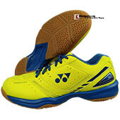 Yonex SHB30EX Power Cushion Badminton Shoes YELLOW and BLUE