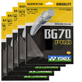 Yonex BG 70 Pro Badminton String Set of 5