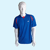 YONEX Badminton T Shirt Round Neck Blue Size Large