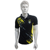 YONEX Badminton T Shirt Black and Yellow Color Neck Size Small